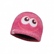 CHILD KNITTED & POLAR HAT BUFF® MONSTER MERRY PINK